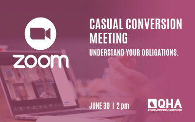 Casual Conversion Zoom - 30 June